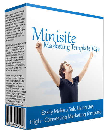 Minisite Marketing Template